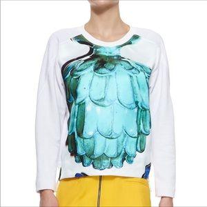 RISTO Doppio Artichoke Side-Zip Sweater